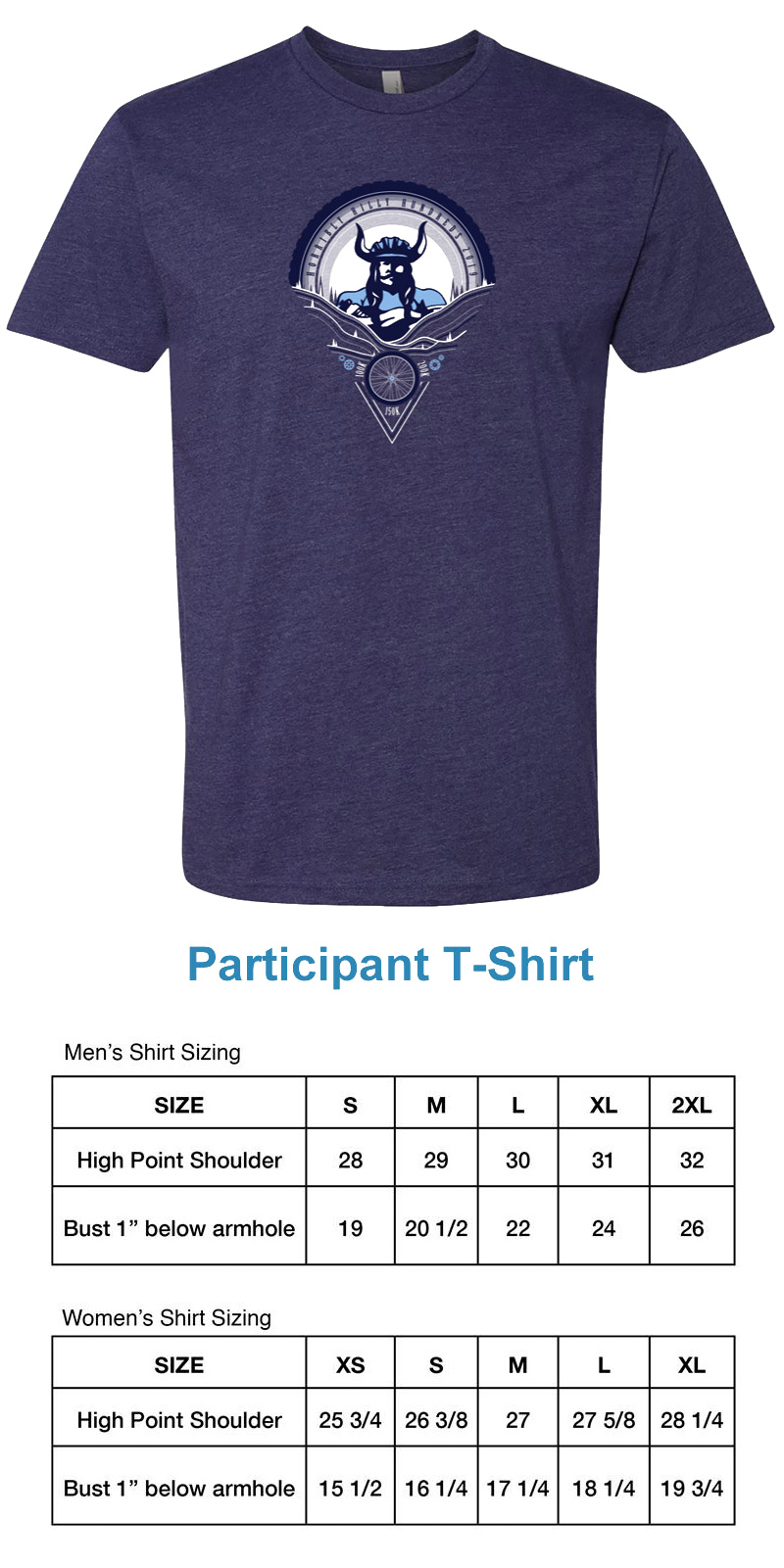 Horribly Hilly Hundreds Participant T-Shirt
